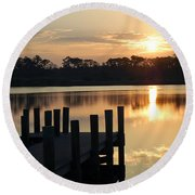 Sunrise In Grayton Beach II Round Beach Towel