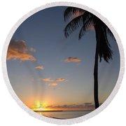 Sunrise In Key West 2 Round Beach Towel