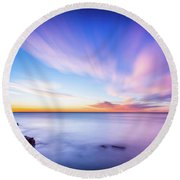 Round Beach Towel featuring the photograph Sunrise In La Mata by Gary Gillette