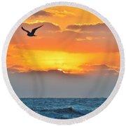 Sunrise In Nags Head Round Beach Towel