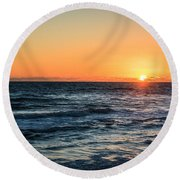 Sunrise In Nags Head Round Beach Towel