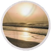 Round Beach Towel featuring the photograph Sunrise In Orange Beach  by John McGraw