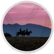 Sunrise In The Lost River Range Wild West Photography Art By Kay Round Beach Towel