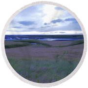 Sunrise Katla House Round Beach Towel