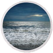 Sunrise-kennebunk Beach Round Beach Towel