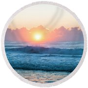Sunrise Round Beach Towel by Lana Enderle