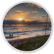 Sunrise Love Round Beach Towel