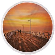 Sunrise Lovers Round Beach Towel