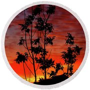 Sunrise Magic Round Beach Towel
