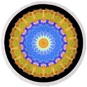 Sunrise Mandala Art - Sharon Cummings Round Beach Towel