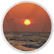 Sunrise Mexico Beach 2 Round Beach Towel