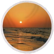 Sunrise Mexico Beach 3 Round Beach Towel