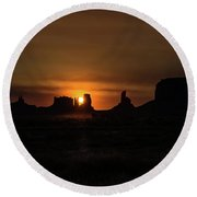 Sunrise Monument Valley Round Beach Towel