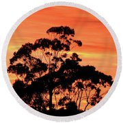 Sunrise Mystery Round Beach Towel