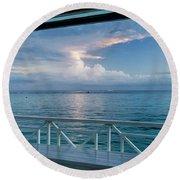 Sunrise, Ocho Rios, Jamaica Round Beach Towel