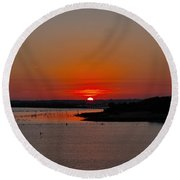Sunrise On Lake Ray Hubbard Round Beach Towel