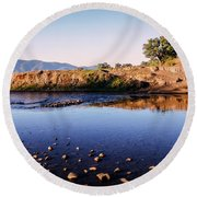 Sunrise On Nariel Creek Round Beach Towel