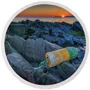 Round Beach Towel featuring the photograph Sunrise On Passamaquoddy Bay by Rick Berk