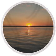Sunrise On Seneca Lake Round Beach Towel