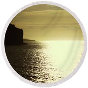 Round Beach Towel featuring the photograph Sunrise On The Almalfi Coast by Polly Peacock