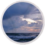 Sunrise On The Atlantic Round Beach Towel