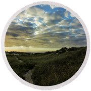 Sunrise On The Cape Round Beach Towel