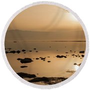Sunrise On The Dead Sea Round Beach Towel
