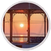 Sunrise On The Revere Beach Bandstand Revere Ma Round Beach Towel