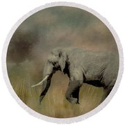 Sunrise On The Savannah Round Beach Towel