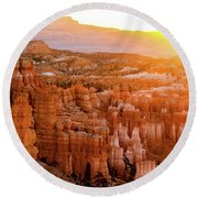 Sunrise Over Bryce Canyon Round Beach Towel