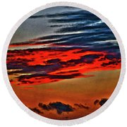 Sunrise Over Daytona Beach Round Beach Towel