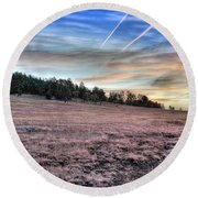 Sunrise Over Ft. Apache Round Beach Towel