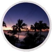 Sunrise Over Key West Round Beach Towel