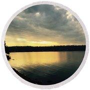 Sunrise Over Lake Washington Round Beach Towel