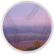 Sunrise Over Mid Valley 2 Round Beach Towel