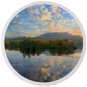 Sunrise Over Mt. Katahdin Round Beach Towel