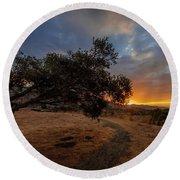Sunrise Over San Luis Obispo Round Beach Towel
