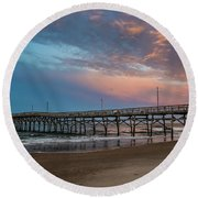 Sunset Over The Atlantic Round Beach Towel
