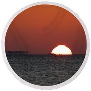 Sunrise Over The Bay 5x7 Round Beach Towel