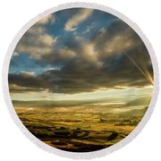 Sunrise Over The Heber Valley Round Beach Towel