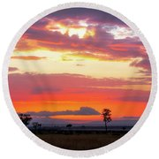 Sunrise Over The Mara Round Beach Towel