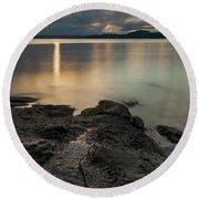 Sunrise Over The Salish Sea - 365-351 Round Beach Towel by Inge Riis McDonald