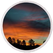 Sunrise Over The Southern San Juans Round Beach Towel