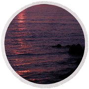Round Beach Towel featuring the photograph Sunrise by Jenny Potter