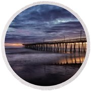 Sunrise Pier Round Beach Towel