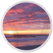 Sunrise Pinks Round Beach Towel