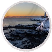 Sunrise Reflection Round Beach Towel