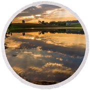 Sunrise Reflections Round Beach Towel