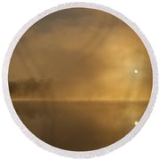 Sunrise Relections Round Beach Towel