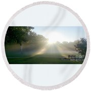 Round Beach Towel featuring the photograph Sunrise  by Ricky L Jones
